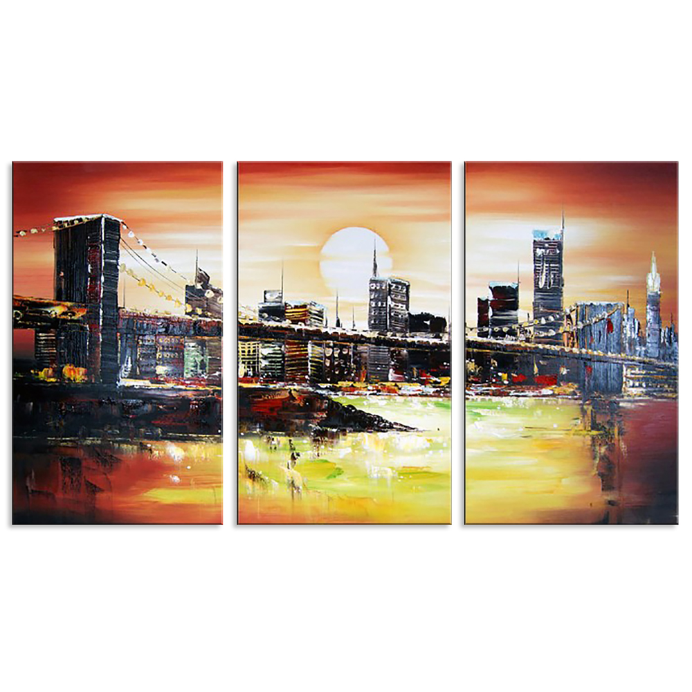 New york bridge art painting 1131 48 x 32in finecraft art for Art and craft stores nyc