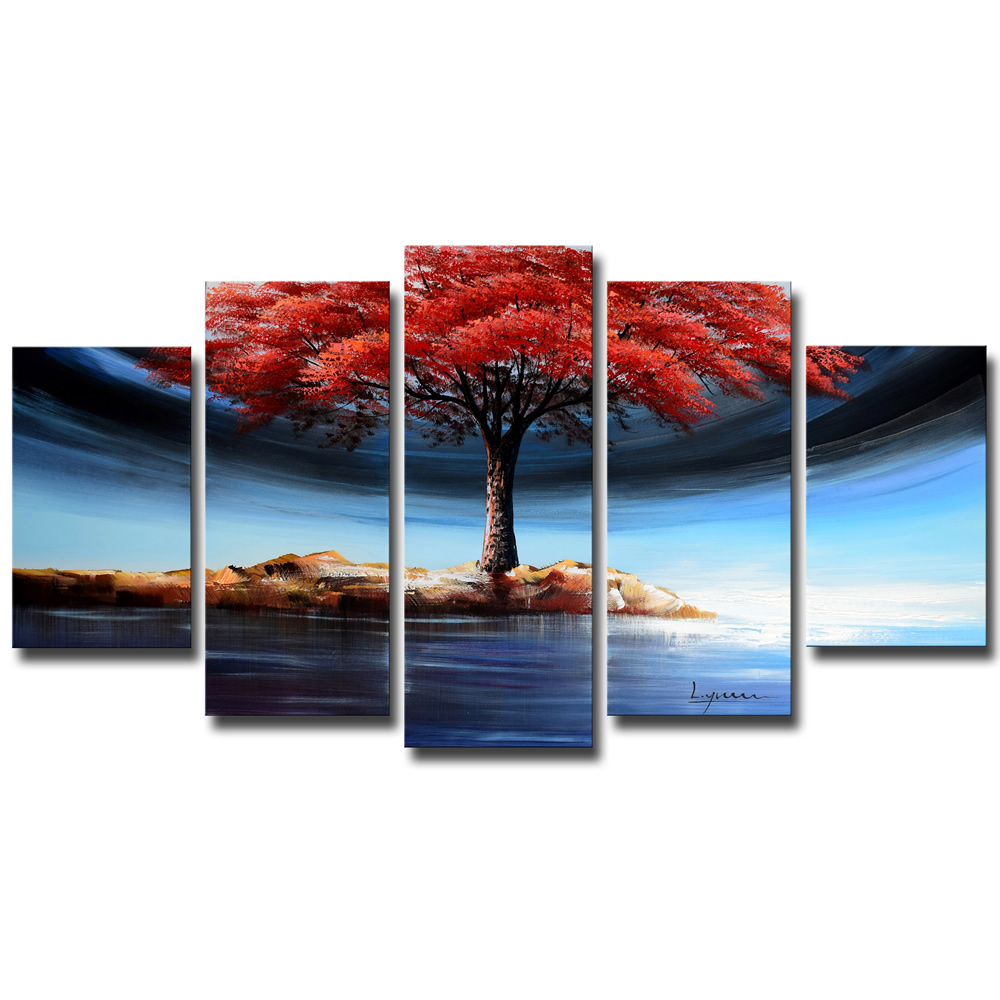 Tree on Island with Flowery Leaves 1233 – 60 x 32in | Finecraft Art