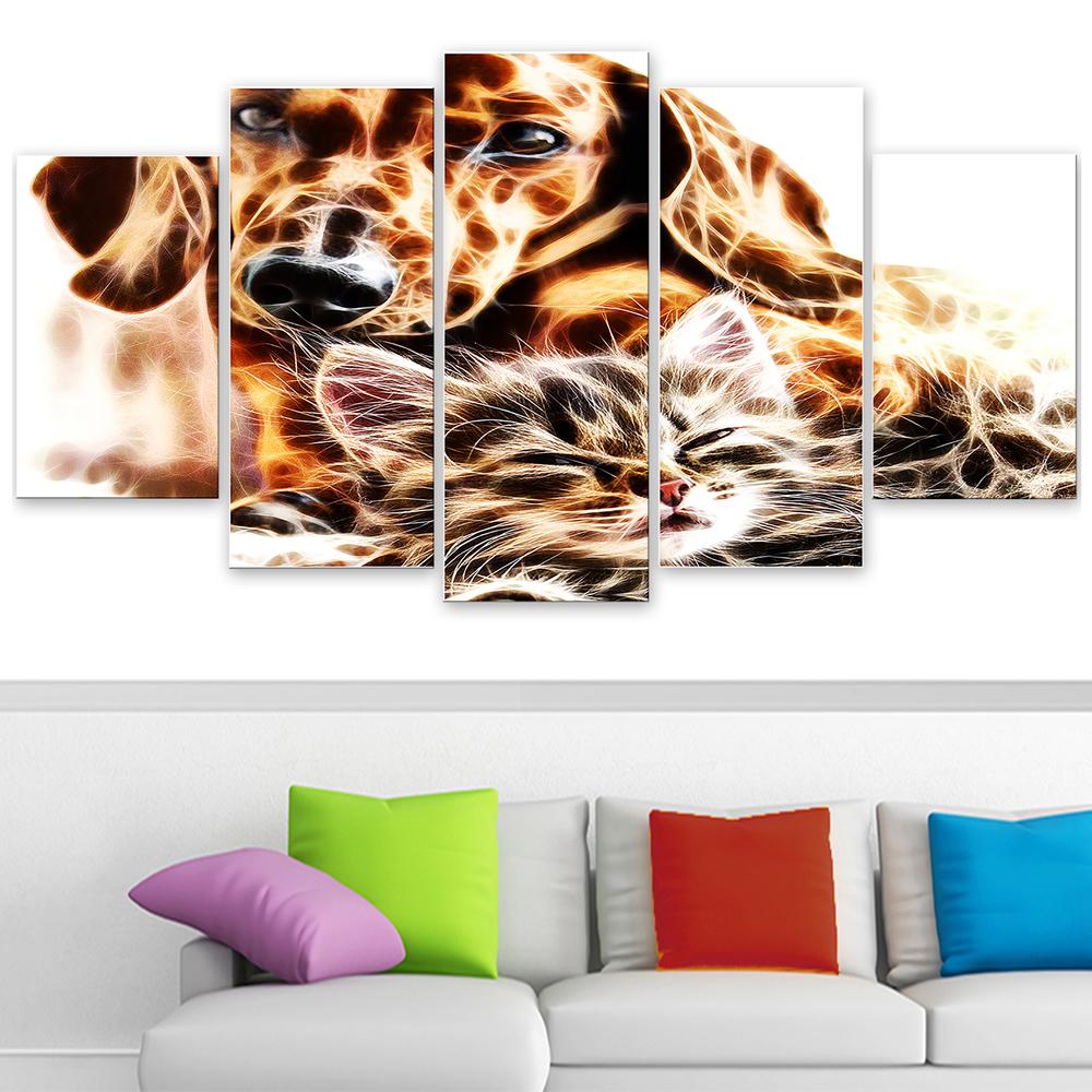 Best buddies cat dog canvas art pt2413 finecraft art best buddies cat dog canvas art pt2413 jeuxipadfo Choice Image