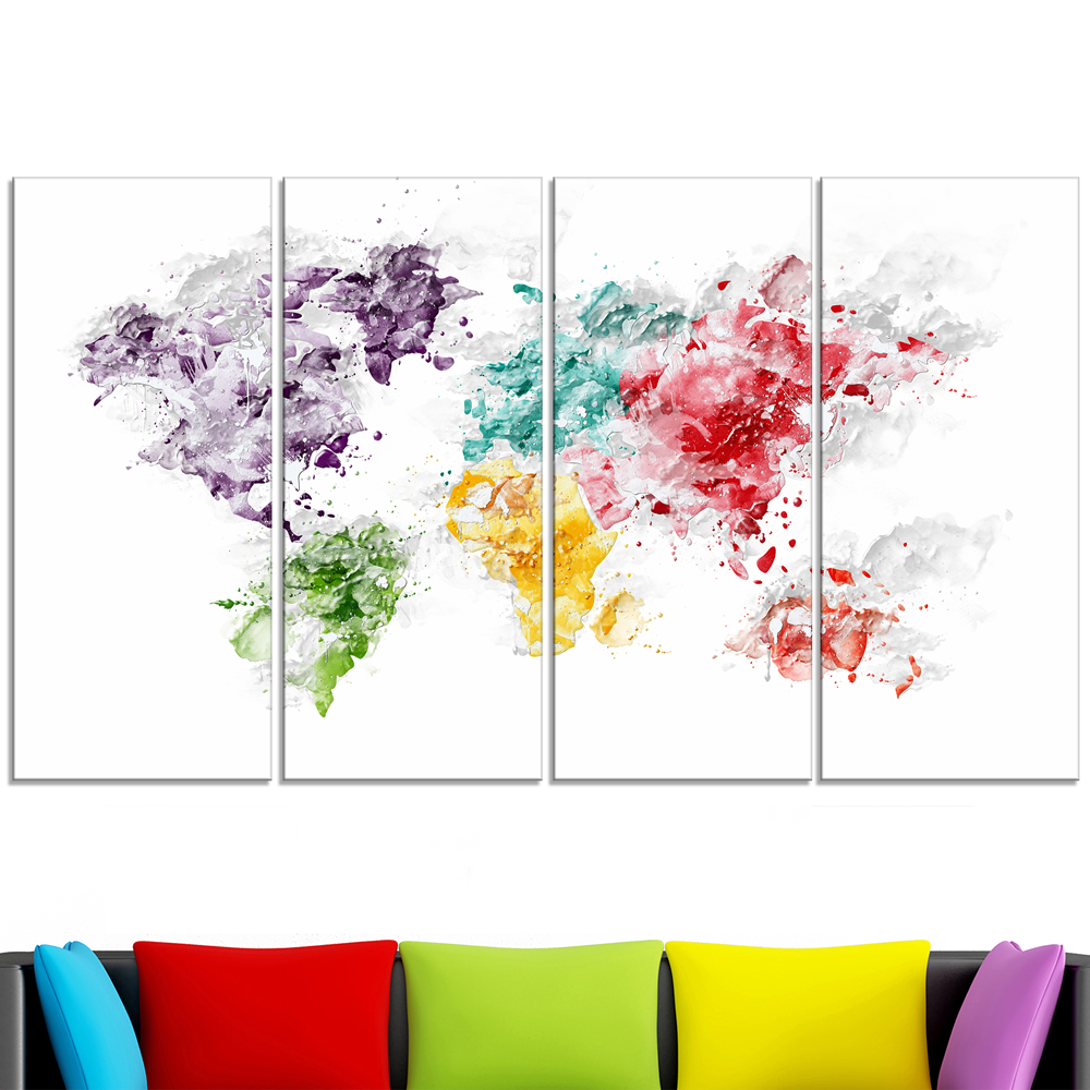 Color splash world map canvas art pt2739 finecraft art pt2739 271 lv gumiabroncs Images