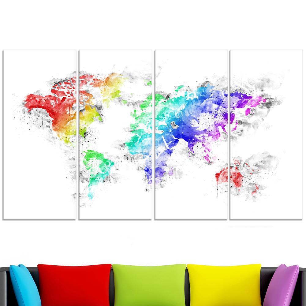 Bright world map canvas art pt2740 finecraft art pt2740 271 lv gumiabroncs Choice Image