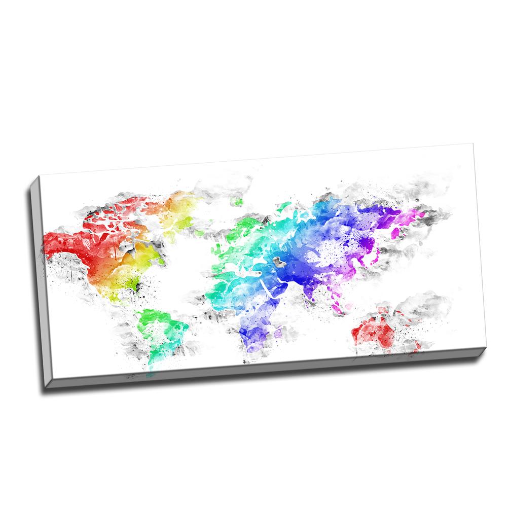 Bright world map canvas art pt2740 finecraft art pt2740 40 20 gumiabroncs Choice Image