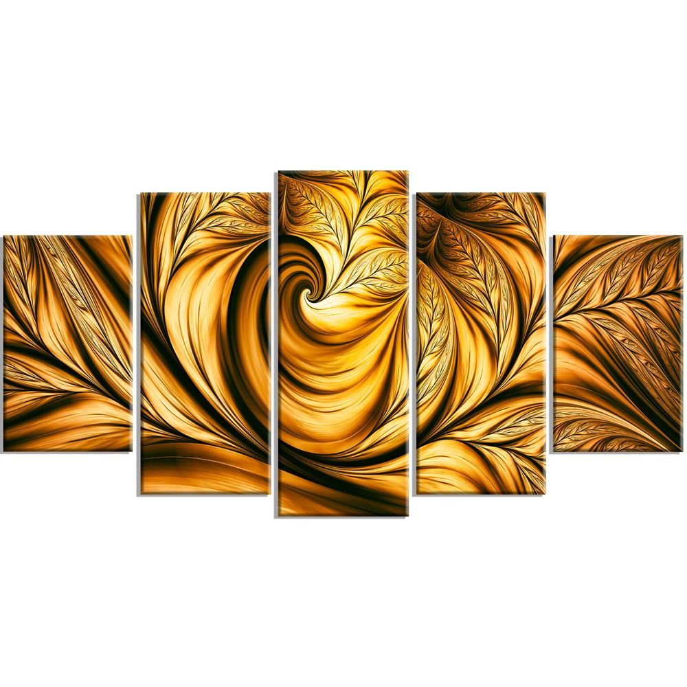 Golden Dream Abstract Art on canvas #PT3026 | Finecraft Art